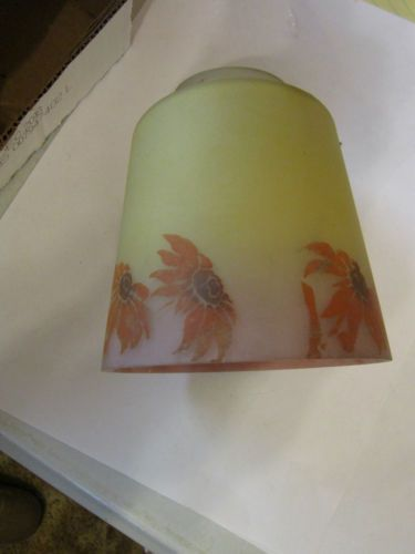 Mejores 80 imgenes de antique lamps other en pinterest lmparas vintage glass lamp shade yellow pink w red aloadofball Gallery