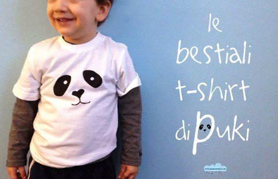 Le bestiali magliette fai-da-te di Puki D.I.Y. kid's t-shirt