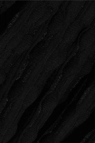 Alaïa - Stretch-knit Peplum Top - Black - FR40