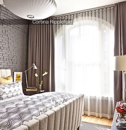 Si su estilo de decoraci n es minimalista ecl ctico industrial nuestras cortinas ripplefold - Estilo de cortinas ...