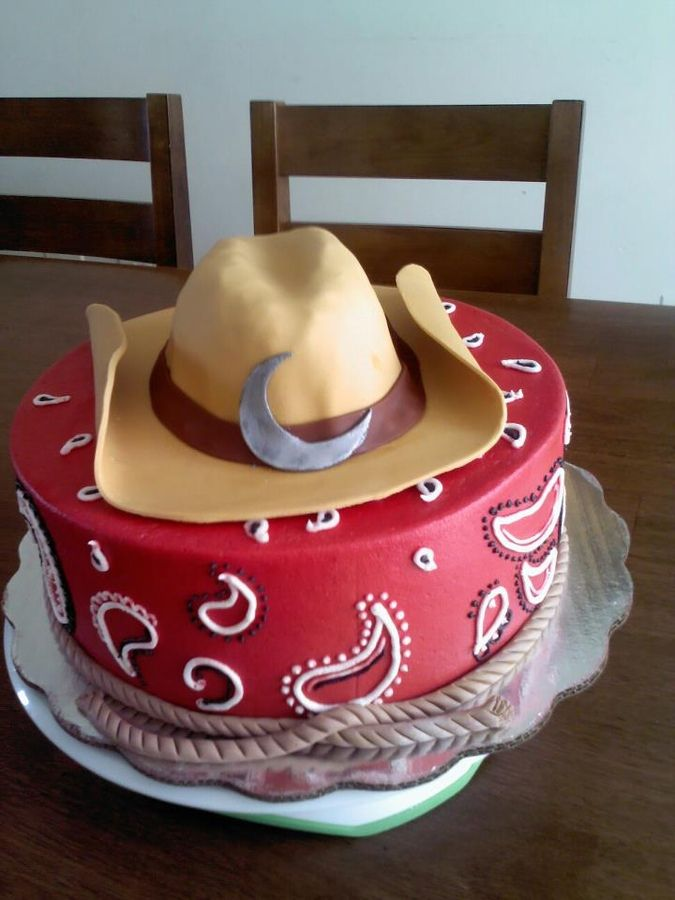 western cakes pictures | cowboy cake vanilla cake with caramel filling buttercream and fondant ...