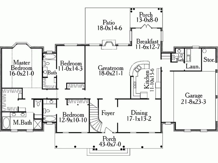 free attached 2 car garage plans