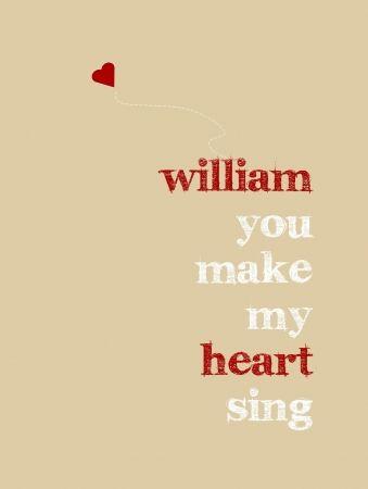 Personalised Print - Heart Sing - hardtofind.