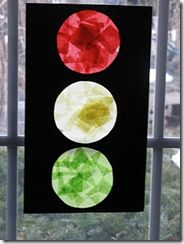 Stop Light art- could use when presenting topic of prayer and God's three answers- Yes, Wait, and No (red, yellow, green).  Will consider when presenting Hannah prays for a son.  Easy enough for the 2 year olds and functional enough that parents will display.
