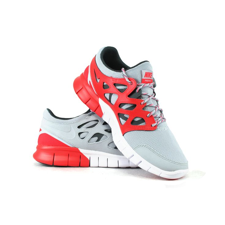 Sport shoes in grey colour with red elements