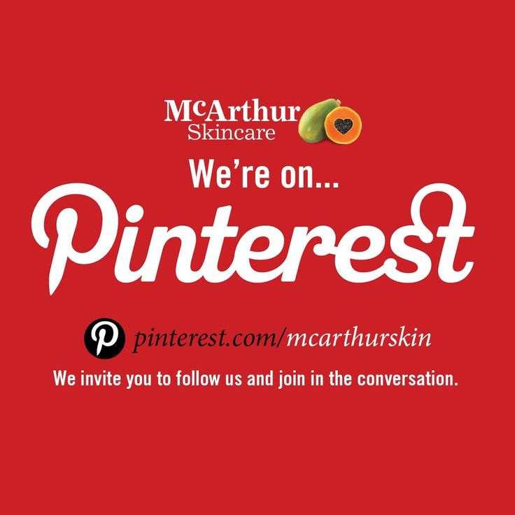 We pin on Pinterest… do you?  We invite you to follow us and join the conversation with McArthur Skincare on the social media channel Pinterest. We love to share our photos, and pin tips on skincare and beauty. We would love to see your own pins.  Connect at https://au.pinterest.com/mcarthurskin/  #mcarthurskincare #pawpaw #papaya #blogger #skincareblogger #beautyblogger #aubeautyblogger #followback #socialmedia #pinterest