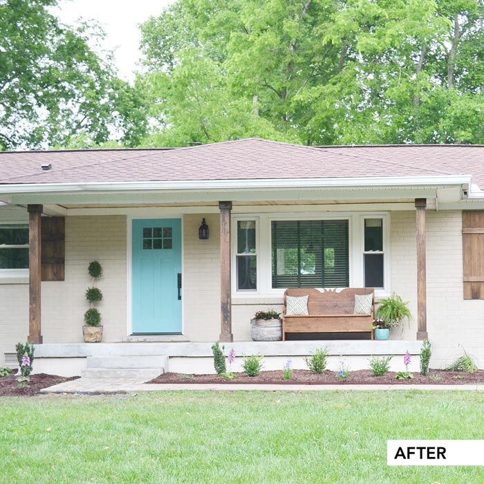 Home Deck Colors House: After Of A Brick Ranch House