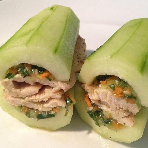 Real cucumber sandwiches @ Paleo Palate