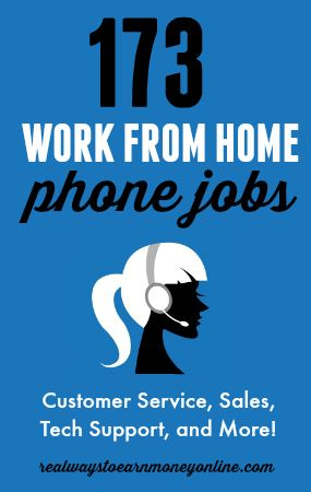 Are you looking for a work from home phone job? Here's a list of 173 legitimate companies that regularly hire home-based workers for customer service, sales, tech support, and more. #careers