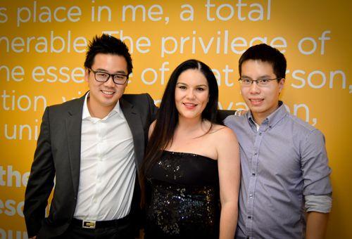 Talent 100 team: Richard Chua, Sarah Spiteri, and Eric Yu.