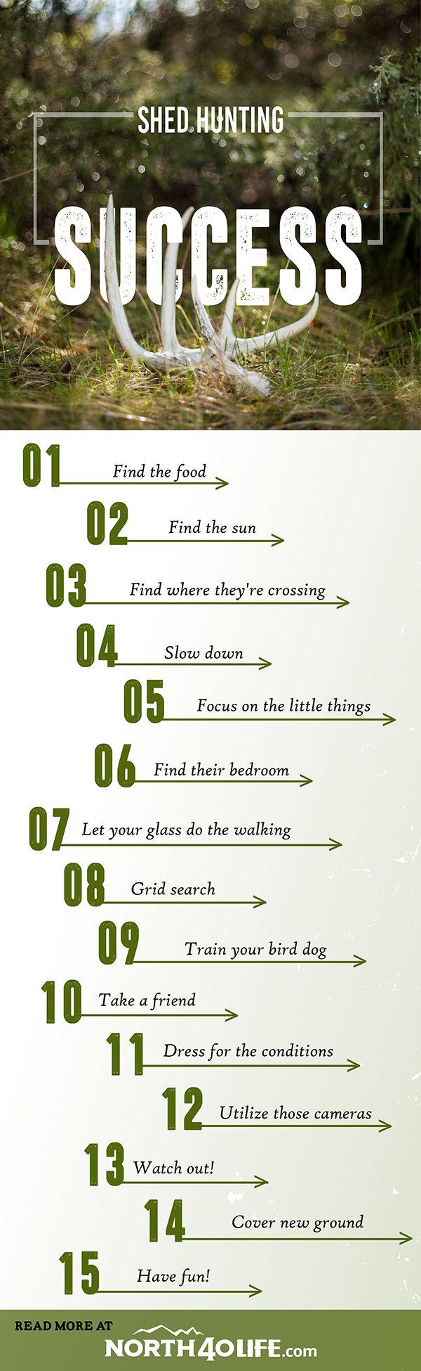www.pinterest.com/1895gunner/ | Tips for shed hunting!