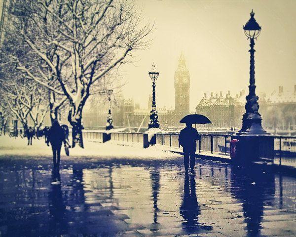 London photography Rain British London Art Umbrella by LondonDream  - I love London. So beautiful.