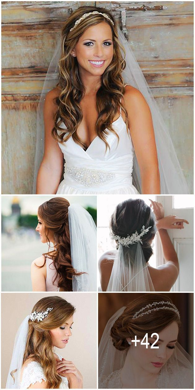 We picked up wedding hairstyles with veil for updos and half-down, bun, long and short hair special for you. It is an undisputed symbol of every bride.
