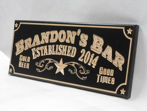 Man Cave Pub Signs : Man cave bar sign personalized pub by mvwoodworks on