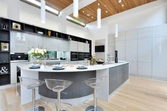 10 Amazing Curved Kitchen Islands