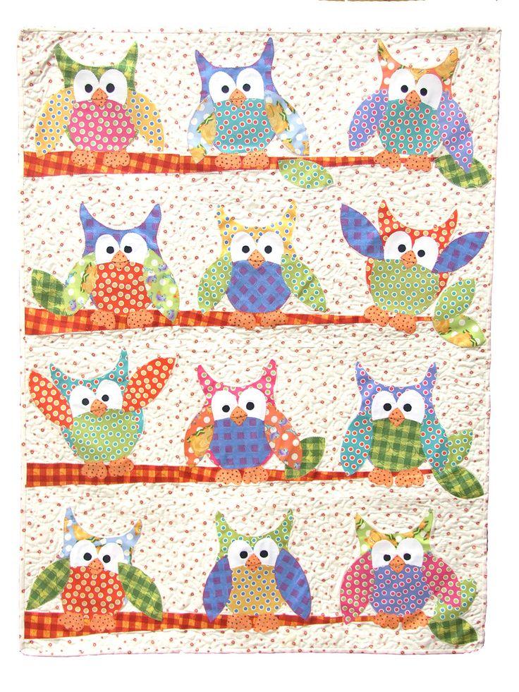 Applique Owls