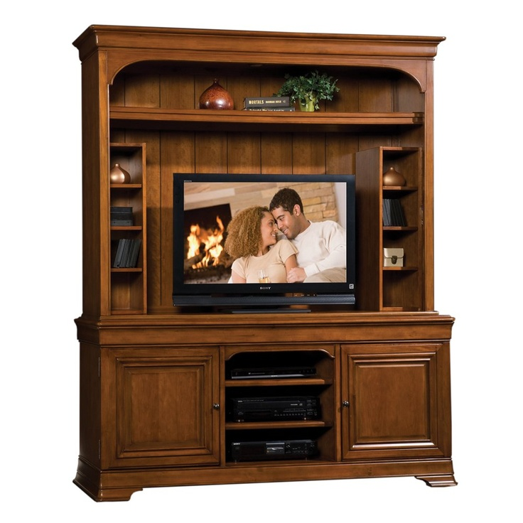 "Sligh 04-645TL-661-671 Toulouse TV Console with Deck - Home Furniture Showroom   47.5"" W with storage towers, 70"" W overall, 21"" Deep"