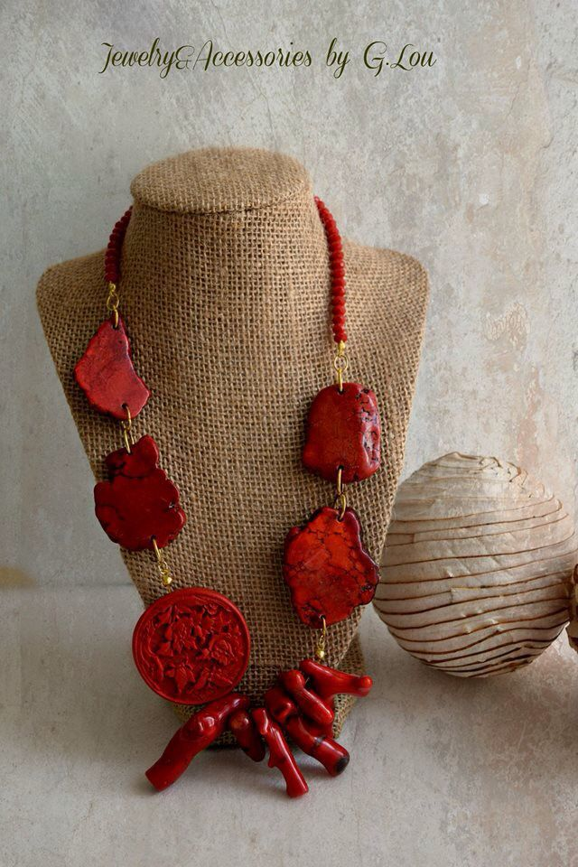 Red Coral Necklace by A&F Designers.
