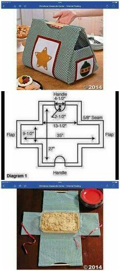 Idea per porta vassoio da cucire trovato su internet... #PhotoGrid