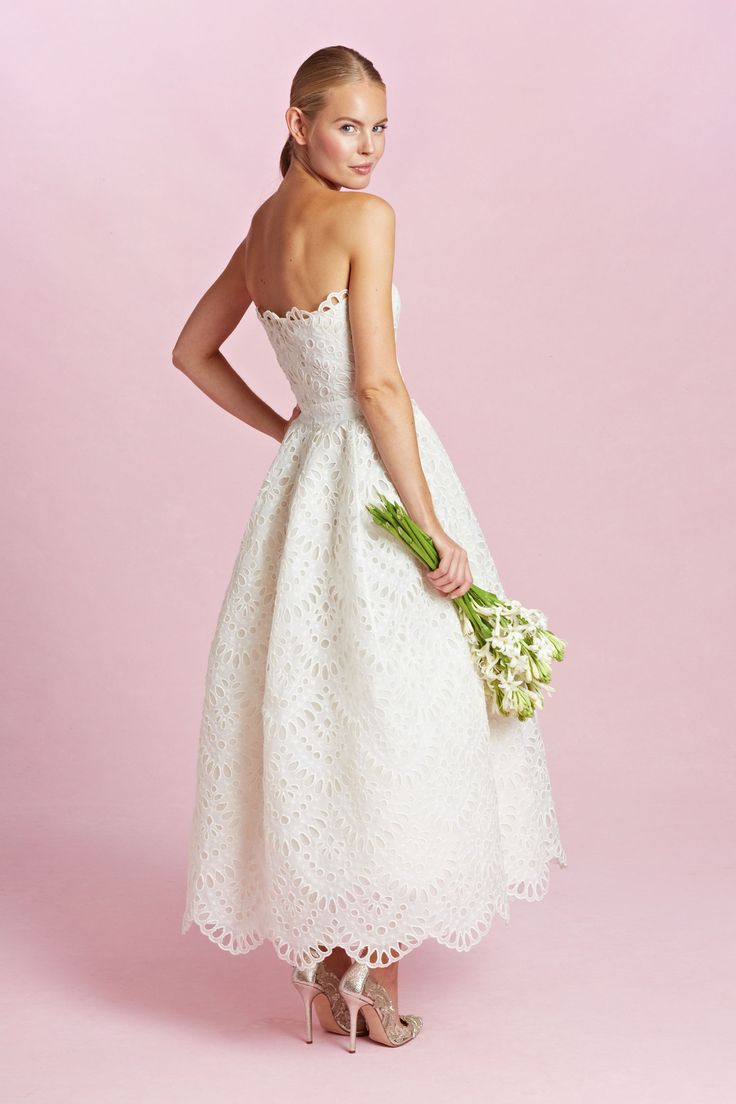 Oscar de la Renta. This length would be iffy for me, but a bit shorter or longer would be great!