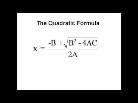 There are many formulas in math that can be tedious and long, but necessary to memorize. There are, however, many techniques used to memorize such formulas. One common one is to learn a song that helps students memorize the quadratic formula. Here is just one of the many songs available for it.