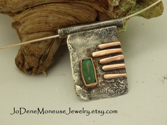 Rustic reticulated sterling silver by JoDeneMoneuseJewelry on Etsy