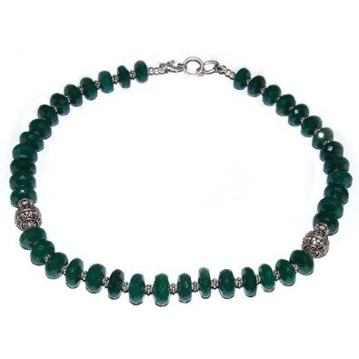 Sterling Silver Green Onyx Necklace Chains for Women 19 Inches: Jewelry: Amazon.com