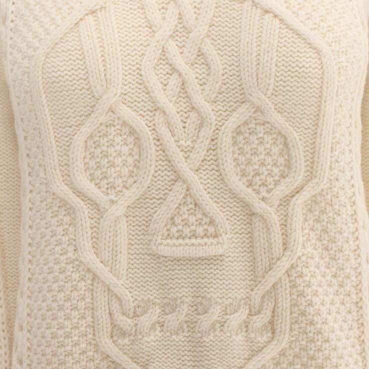 Aran Skull Knit Jumper Alexander McQueen   Knitwear & Sweater   Tops Knitwear  