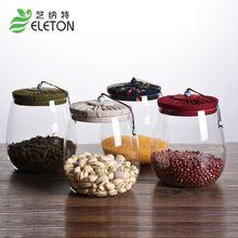 Corcho ELETON vidrio cubierta del pote del té sellado botella creativo del caramelo transparente té tanque de almacenamiento de granos Mason Tarros de Cocina accesorios(China)