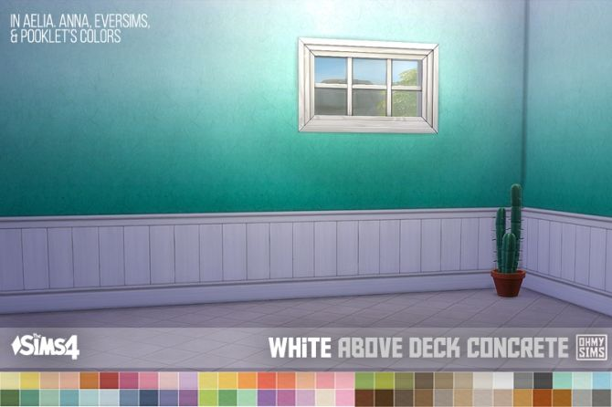 White Paneling Above Deck Wallpapers At Oh My Sims 4