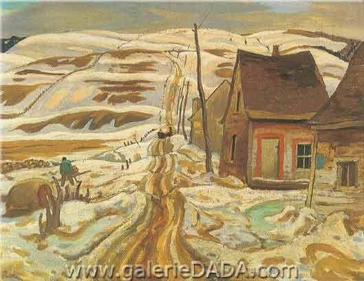 Alexander Y. Jackson,  A Quebec Farm Fine Art Reproduction Oil Painting