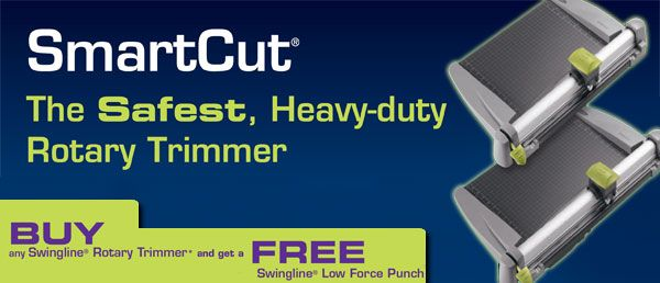 Get a #FREE #Swingline Low Force Punch when you purchase any Swingline Rotary Trimmer. Offer valid until November 30, 2013.