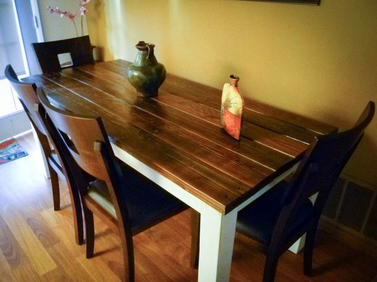 reclaimed distressed wood dining table farmhouse table via etsy