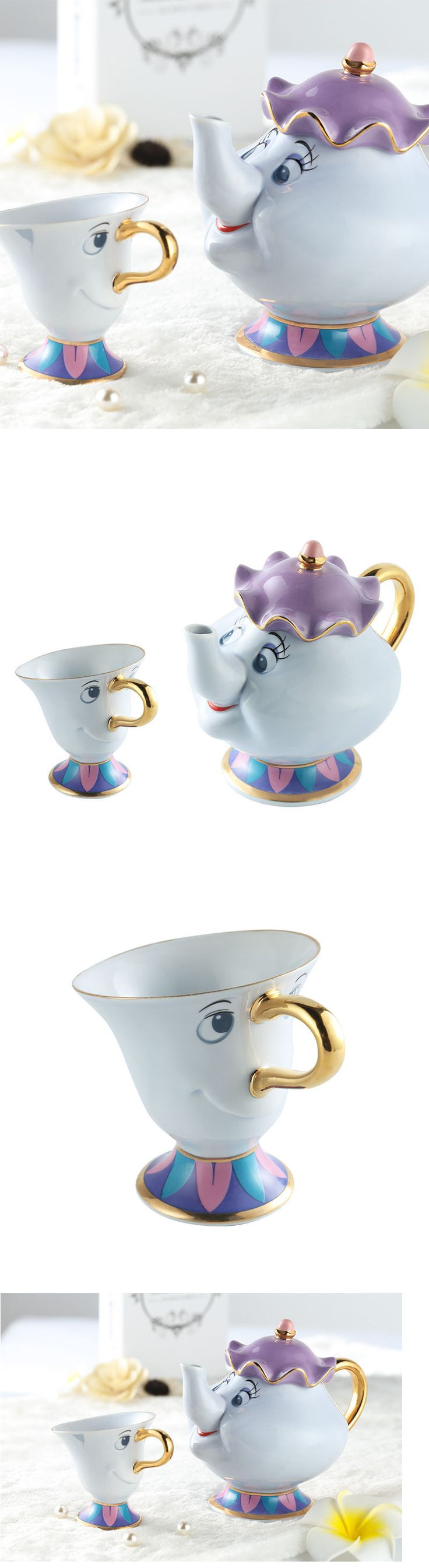 Beauty and the Beast 44033: Hot Sale Beauty And The Beast Tea Pot Set Mrs Potts Teapot Chip Cup Ceramic Gift -> BUY IT NOW ONLY: $38.99 on eBay!