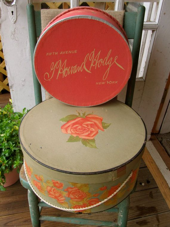 Grandma Had Some Fancy Hats And These Vintage Hat Boxes With Flowers Prove  It
