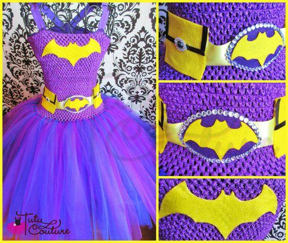 Batgirl tutu dress/purple batgirl dress/purple batman dress/vintage batgirl cos/batgirl costume/batman costume/purple batgirl/batgirl tutu