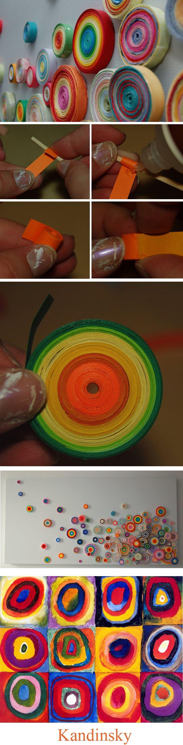 Cercles à la manière de Kandinsky
