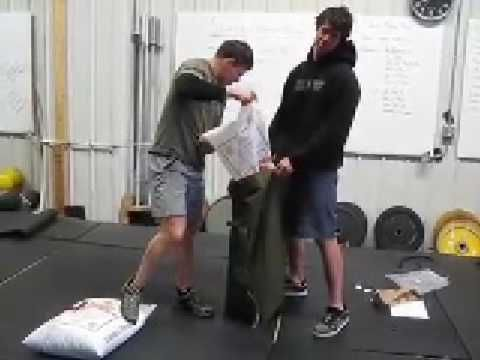 How to make a sandbag. Seems like this one actually works and wouldn't break.