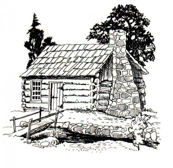 log cabin coloring pages - photo#11
