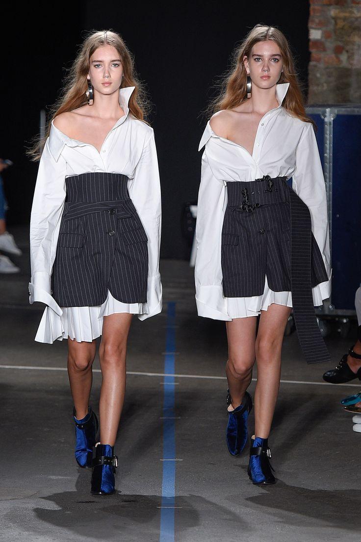 Monse Spring 2017 Ready-to-Wear Fashion Show - Amalie Moosgaard, Cecilie Moosgaard