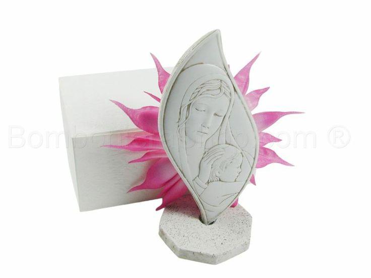 Fiamma Maternità Bassorilievo in marmoresina confezionato rosa con scatola