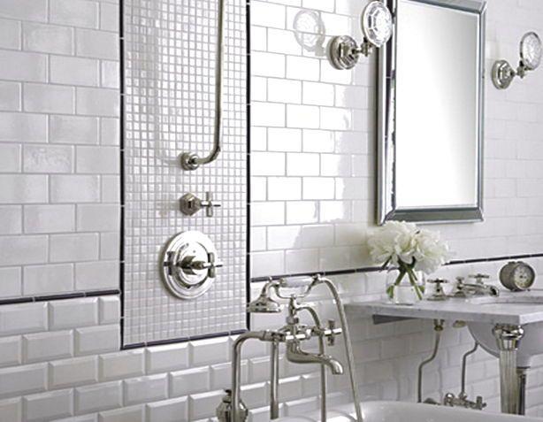 WHITE SMALL BATHROOM TILE - http://www.homedesignstyler.com/white-small-bathroom-tile/