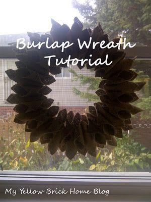 Brick Home Love: Burlap Wreath Tutorial