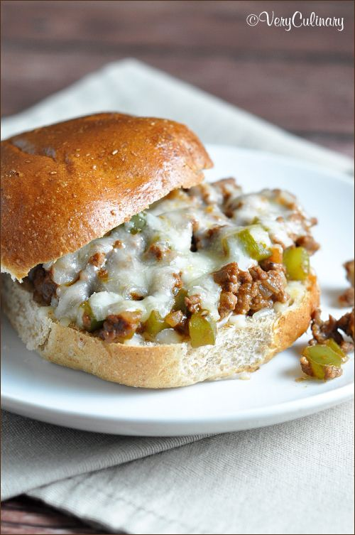 Sloppy Joes with a Philly Cheese Steak Flair from @veryculinary