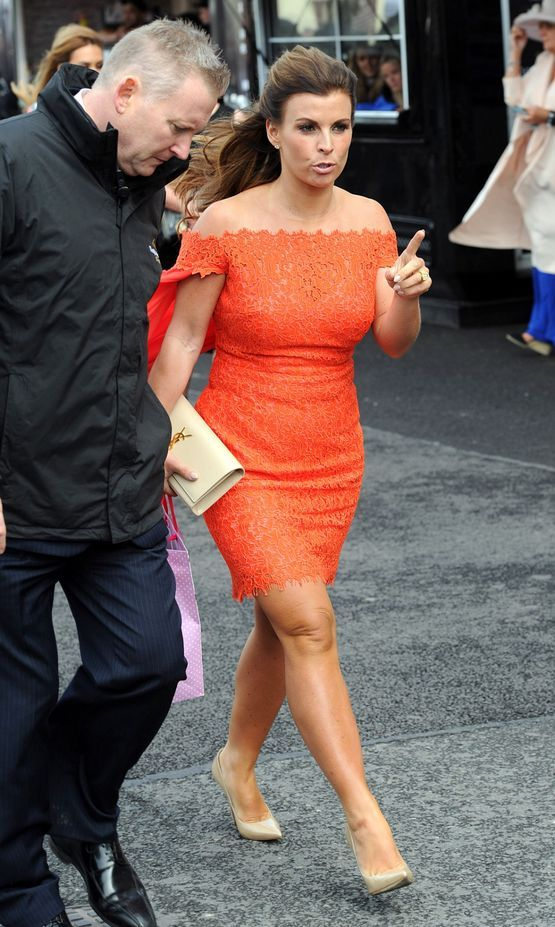 Coleen Rooney arrives. Photo by Ian Cooper