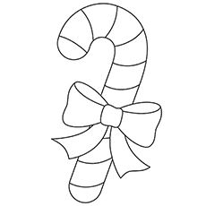 the candy cane with ribbon