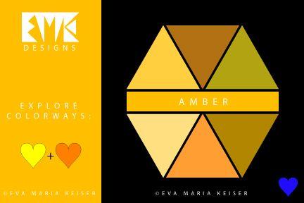"Eva Maria Keiser Designs: Explore Color: ""Amber"""