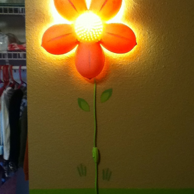 up the awesome ikea flower light with some wall decals kids lighting