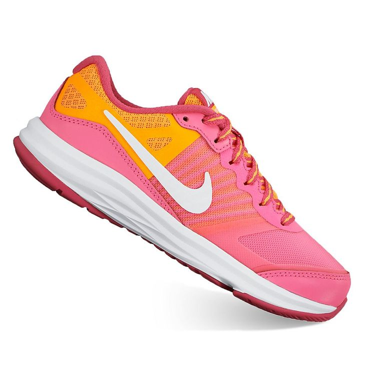 Nike Dual Fusion X Pre-School Girls' Running Shoes, Size: 5, Pink