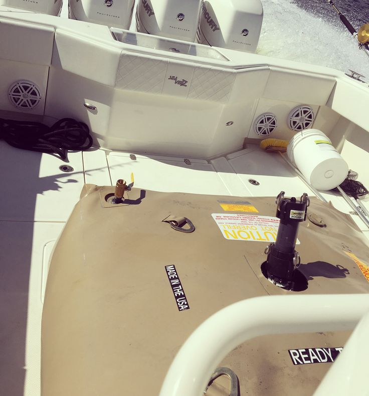 Ready 150 gallon Space Saver Marine Fuel Bladder with Protective Jacket on back of #seavee Call for you today!! 941-739-9486 http://readycontainment.com #offshorefishing #deepseafishing #marinefuelbladder #flexiblefueltank #portablefueltank #flexiblefuelbladder #scubadiving #offshore #deepsea #extendedrangemarinebladder